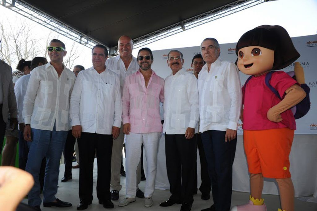 Rafael Féliz Germán, Francisco Javier García, Ljubisa Krstajic, Marco Antonio Solís, Danilo Medina y Edilbrando Pérez.