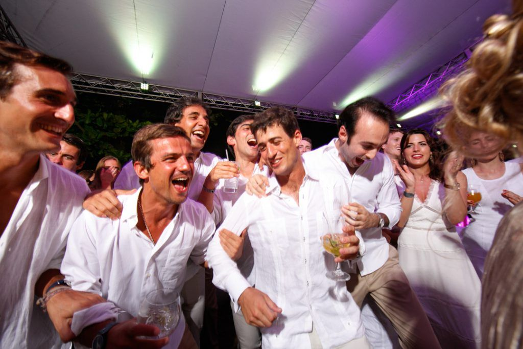 Pablo Rodríguez-Fraile disfrutando de la hermosa fiesta blanca.