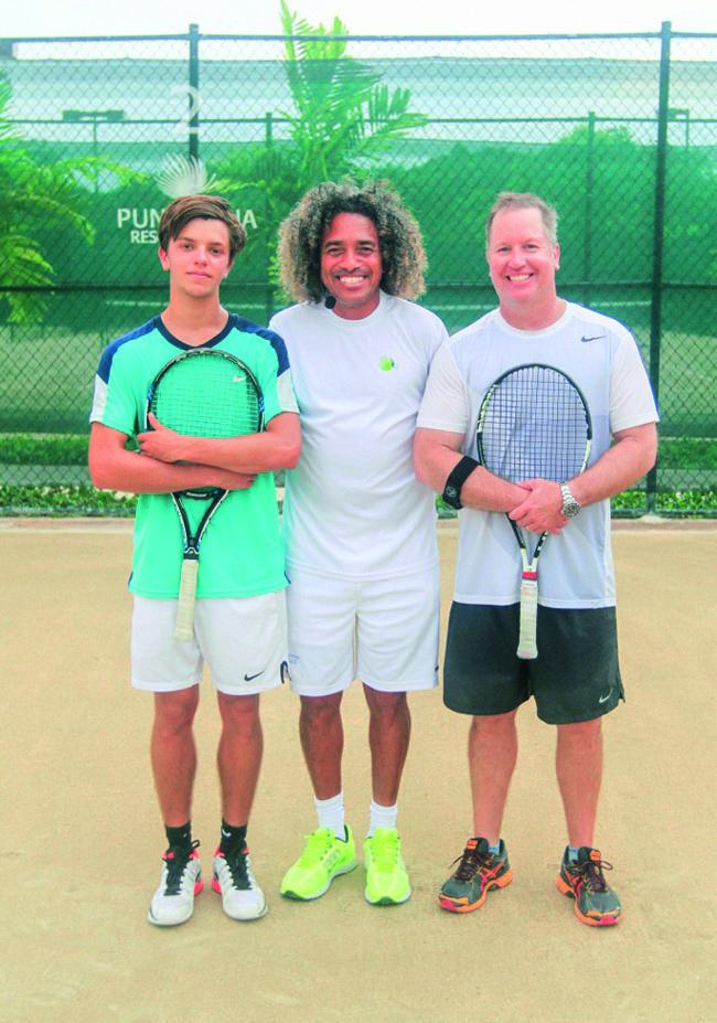 2do Lugar Partido de Tenis, Joey Short, Felix de los Santos y  Joey Short (padre)