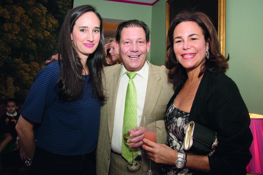Malu Edwards de Hurley, Carlos Picón y Rosanna Rivera.
