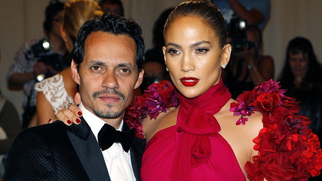 """Marc Anthony and wife Jennifer Lopez arrive at the Metropolitan Museum of Art Costume Institute Benefit celebrating the opening of Alexander McQueen: Savage Beauty, in New York in this May 2, 2011 file photograph. In a joint statement to 'People' magazine July 15, 2011, they state """"We have decided to end our marriage,"""" """"This was a very difficult decision. We have come to amicable conclusions on all matters."""" REUTERS/Mike Segar/Files (UNITED STATES - Tags: ENTERTAINMENT FASHION)"""