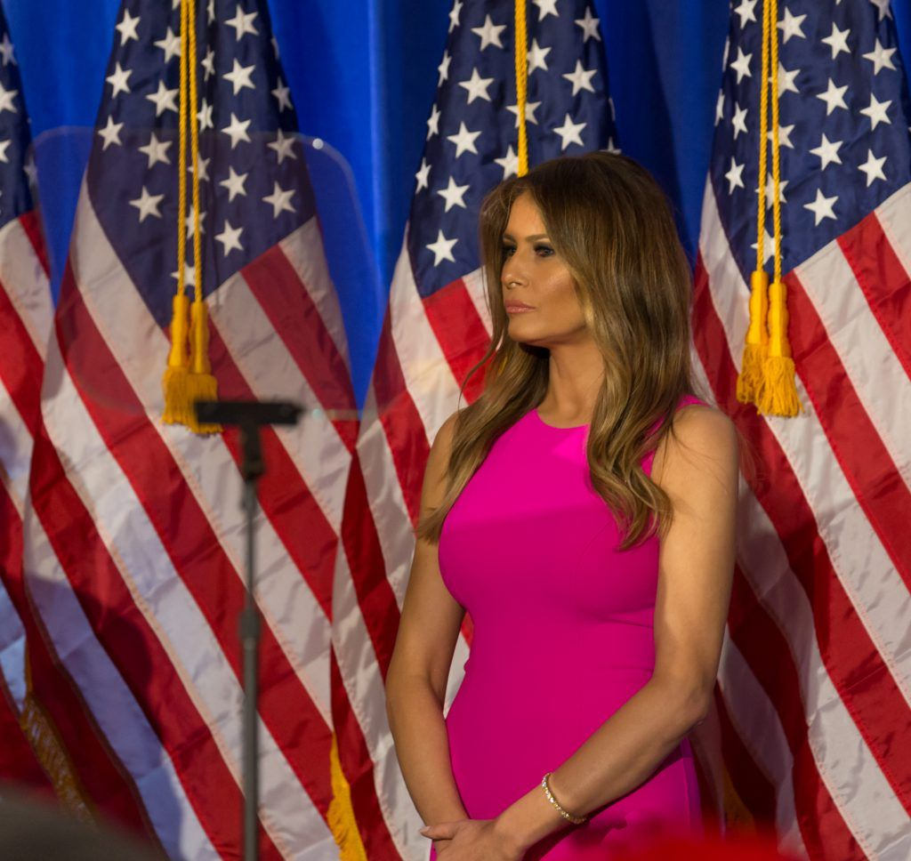 TRUMP NATIONAL GOLF CLUB WESTCHE, BRIARCLIFF MANOR, NEW YORK, UNITED STATES - 2016/06/07: Melania Trump attends Donald Trump speech during post-election remarks at Trump National Golf Club Westchester. (Photo by Lev Radin/Pacific Press/LightRocket via Getty Images)