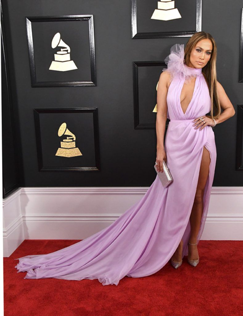 LOS ANGELES, CA - FEBRUARY 12:  Singer Jennifer Lopez attends The 59th GRAMMY Awards at STAPLES Center on February 12, 2017 in Los Angeles, California.  (Photo by Steve Granitz/WireImage)
