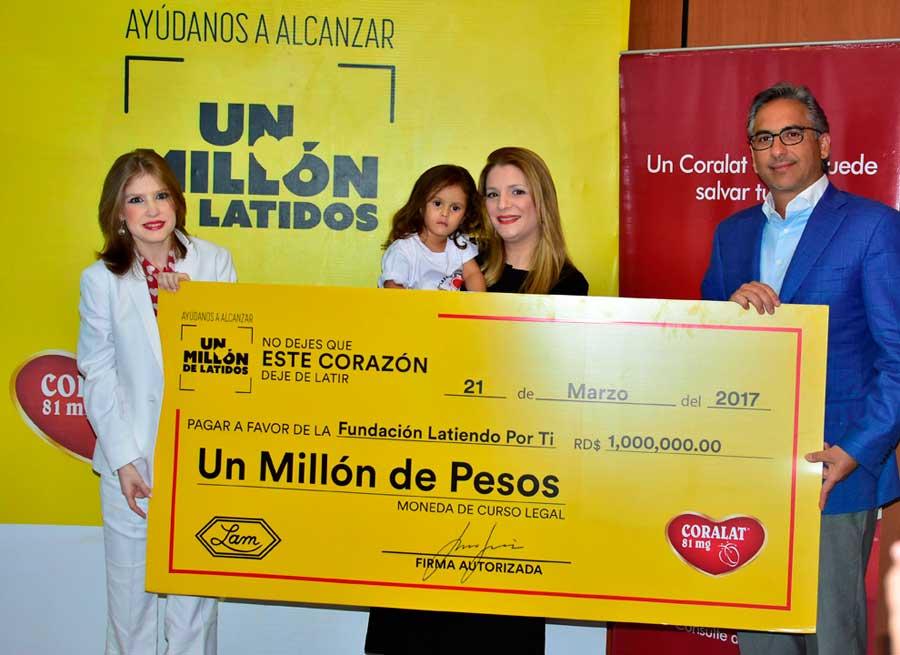 CORALAT realiza entrega de aporte a la Fundación Latiendo por Ti