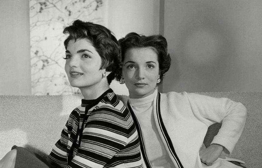 Jackie y Caroline Bouvier