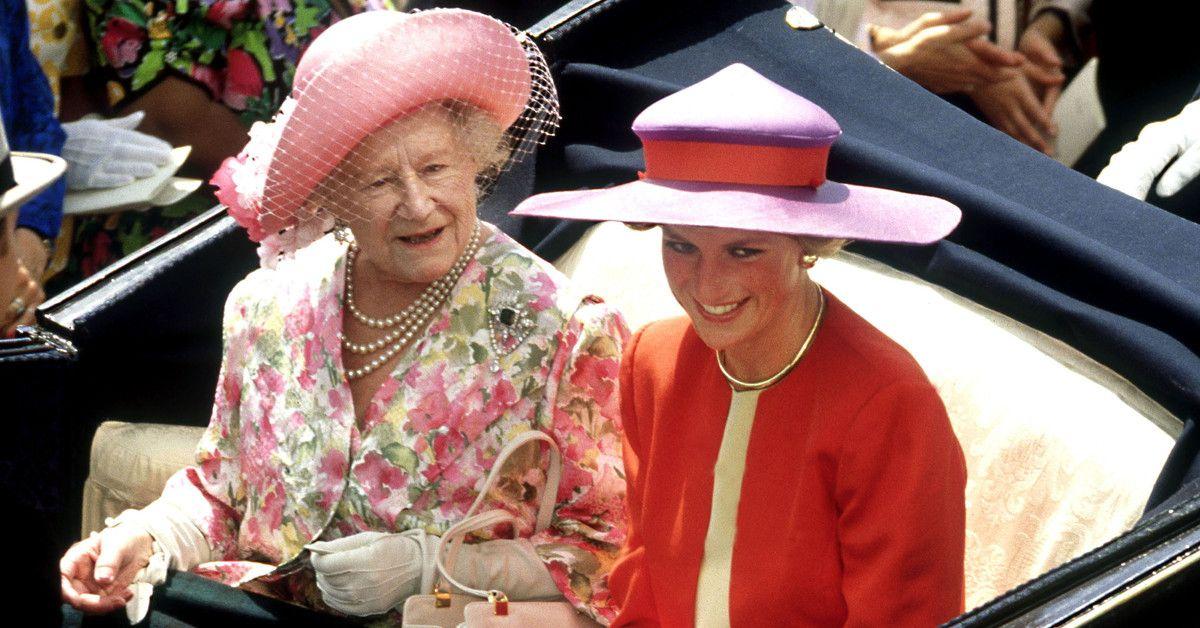 Lady Di y la Reina Madre