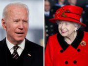 Reina Isabel II y Joe Biden